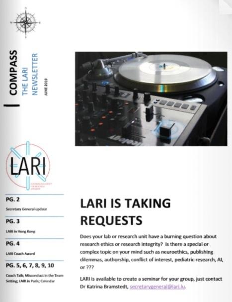 LARI Newsletter June2019COVER