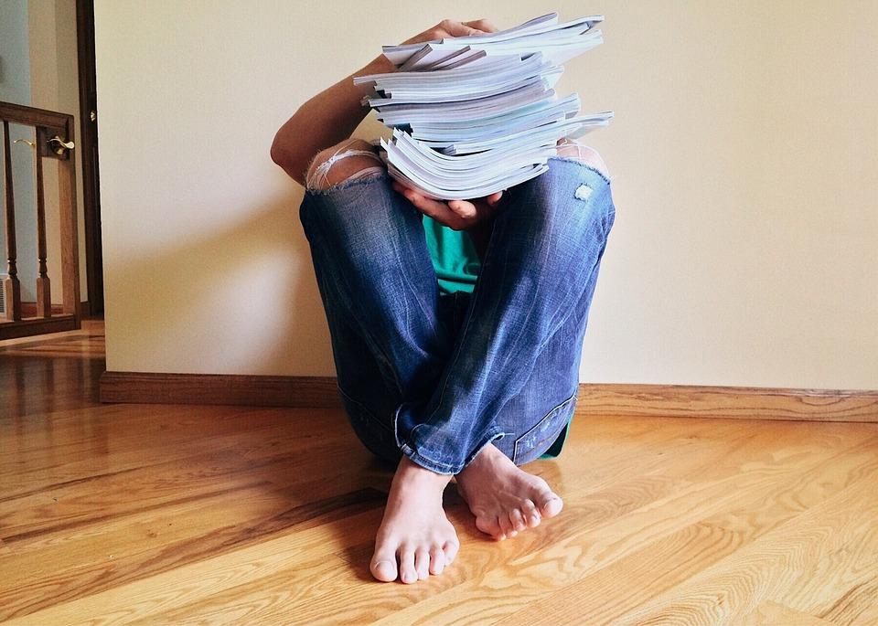 journal stack man